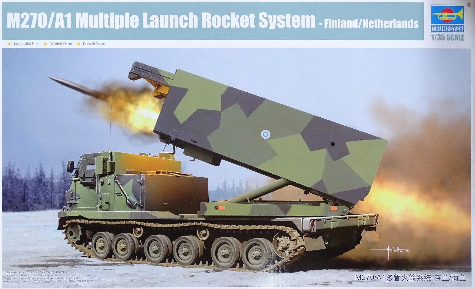 venta de ofertas Trumpeter M270 A1 Múltiple Lanzamiento Cohete Cohete Cohete System Finlandia Netherlands 1  3  respuestas rápidas