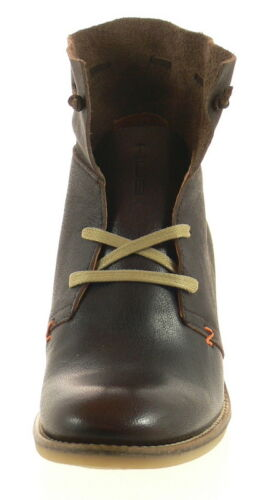 HUB Footwear Damen Stiefeletten NOVAK braun dbn Echtleder Schuhe NEU Keilabsatz