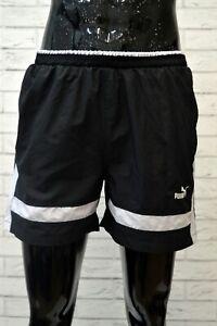 Costume-PUMA-Uomo-Taglia-44-Mare-Piscina-Pantaloncino-Shorts-Rete-Nero-Kostum
