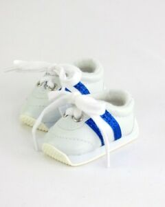 Doll-Clothes-18-034-Sneakers-Shoes-White-Blue-Fits-American-Girl-Dolls