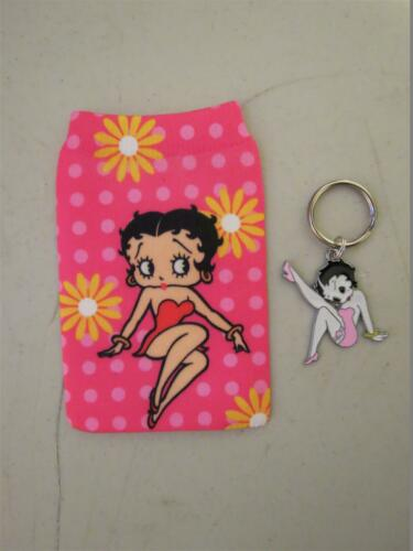 Betty Boop Phone Sock or Mp3 Pouch /& BettyBoop Key Chain
