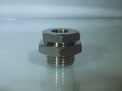 BSPP Female Bulkhead Fitting 4 Sizes with Fixing Nut Bulkhead Connector