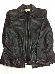 Acetat Frakke Læder Med Black Foring Colebrook Nylon Kvinder M Co qwARA8