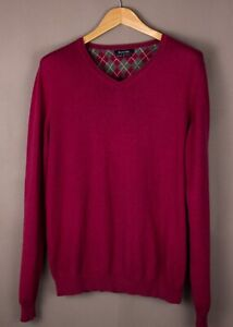 Massimo Dutti Hommes Coton Cachemire Pull Taille M ASZ853