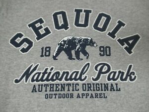 Sequoia-National-Park-Outdoor-Abbigliamento-Piccolo-Grigio-T-Shirt-D262