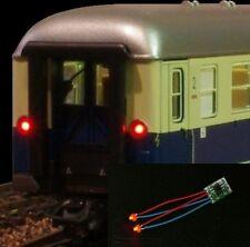 S084 - 5 pezzi LED Fanale Posteriore Luce Coda Treno Carri 1,8mm LED rosso