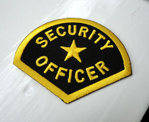 P4 SecurityOfficer with Star Iron on Patch Gold on Black - Manchester, United Kingdom - P4 SecurityOfficer with Star Iron on Patch Gold on Black - Manchester, United Kingdom