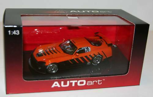 Dodge Viper srt-10 competition Coupe Go Man Go Special Orange metal 1:43 Autoart