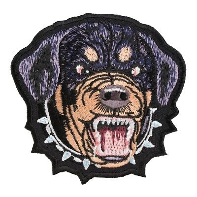 """E17 ROTTWEILER Dog 3-3//4/"""" Embroidery Iron-on Patch"""