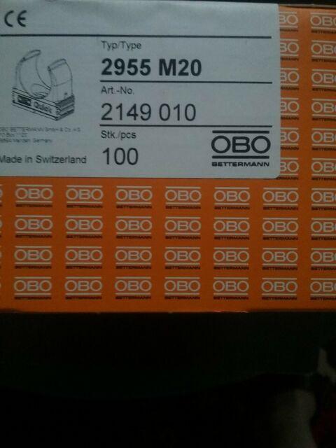 20 Stück  2955 Schellen M25 M25 OBO Bettermann Quick