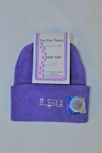 LSU-Two-Feet-Ahead-Purple-Newborn-Cap-with-LSU-in-Rhinestones