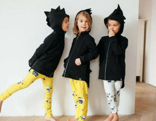 Kid Baby Dinosaur Style Hooded Coat Boys Girls Outwear Jacket Tops Clothes Hoc