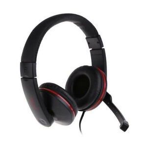CUFFIE GAMING PS4 XBOX ONE PC LAPTOP JACK AUDIO MICROFONO...