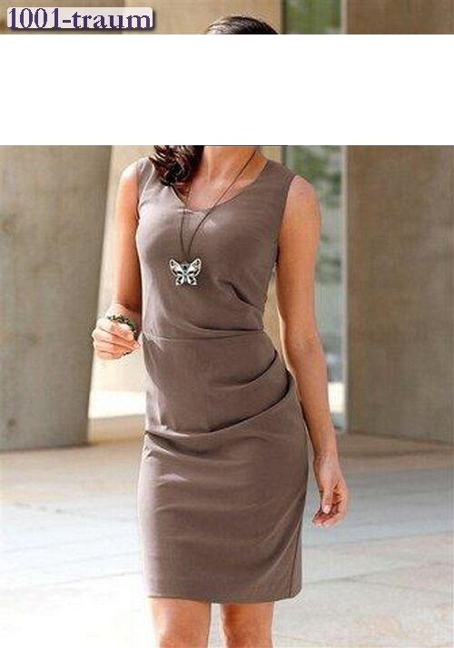 Dress Vivien Caron Heine Taupe Size 34 NEW