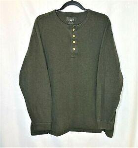 Pendleton-Deschutes-Henley-Long-Sleeve-Men-Size-XLarge-Dark-Green-100-Cotton