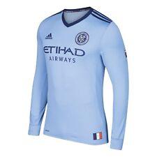 72e10f01f5b adidas NYC FC Away Authentic Jersey Men s Blue Night Sky   Orange S ...