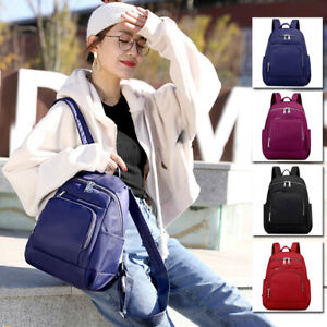 Women-039-s-Water-Resistant-Nylon-Backpack-Rucksack-Daypack-Travel-Bag-Purse-Cute