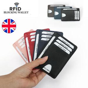 RFID-Blocking-For-Mens-Credit-Card-Holder-Leather-Carbon-Fiber-Wallet-Money-Clip