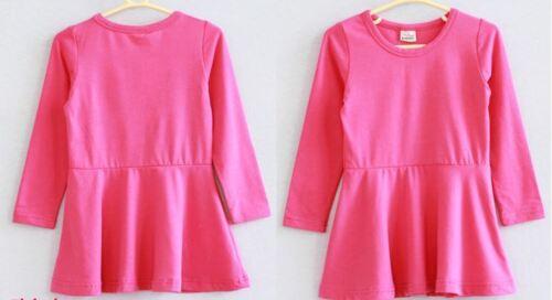 Kleid Dress rot grün Kinderkleid Mädchenkleid Tunika Tellerrock Shirtkleid