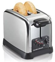 Hamilton Beach Classic Chrome 2 Slice Toaster, New, Free Shipping on sale