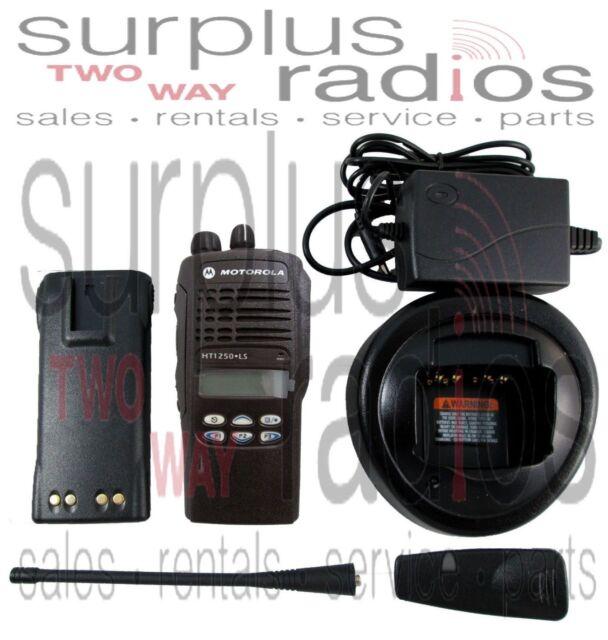 Ref Motorola HT1250LS UHF 400-470MHZ 16 channel 4 watt LTR Trunking Radio
