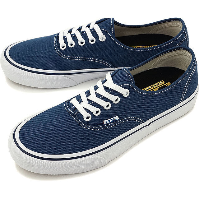 ac81272fb8 VANS Mens Blue Authentic Low Top Canvas Skateboarding SNEAKERS Shoes 7 for  sale online