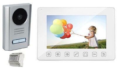 9-Zoll XL-Display//VIDEO-TÜRSPRECHANLAGE 1-FAM.// Aufputz//700TVL-110° Weitwinkel