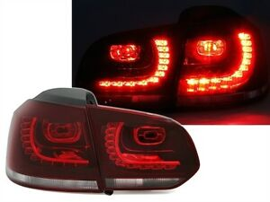 LUCES-TRASERAS-LED-ROJO-BLANCO-CRISTAL-LOOK-R-GTI-VW-GOLF-6-QUILATES-4MOTION-R-R