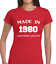MADE IN 1980 LADIES T SHIRT FUNNY 40TH BIRTHDAY GIFT IDEA COOL JOKE PRESENT TOP