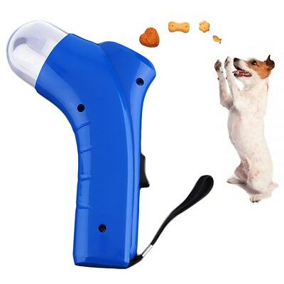 Dog Cat Treat Launcher Pet Interactive Fun Snacks Food Giving Training Toy UL