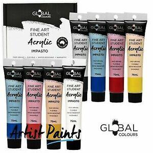 8-Colour-75ml-PAINT-TUBE-SET-Global-Colours-Student-Fine-Art-Acrylic-Colors