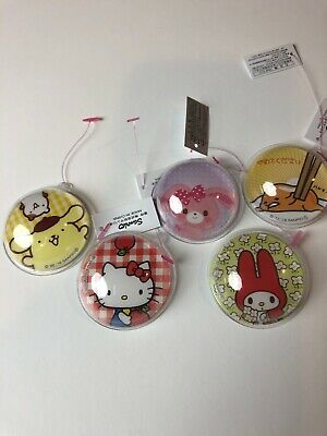 Sanrio Hello Kitty My Melody Gudetama Purin Cinnamoroll Trinket 5pc Stamp