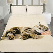 Large Animal Faux Fur Mink Warm Bed Blanket Throw Sleeping Kitten Cat 150 x 200