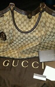 ee6ffd4234b Image is loading GUCCI-Sukey-Large-Original-GG-Canvas-Tote-Shoulder-