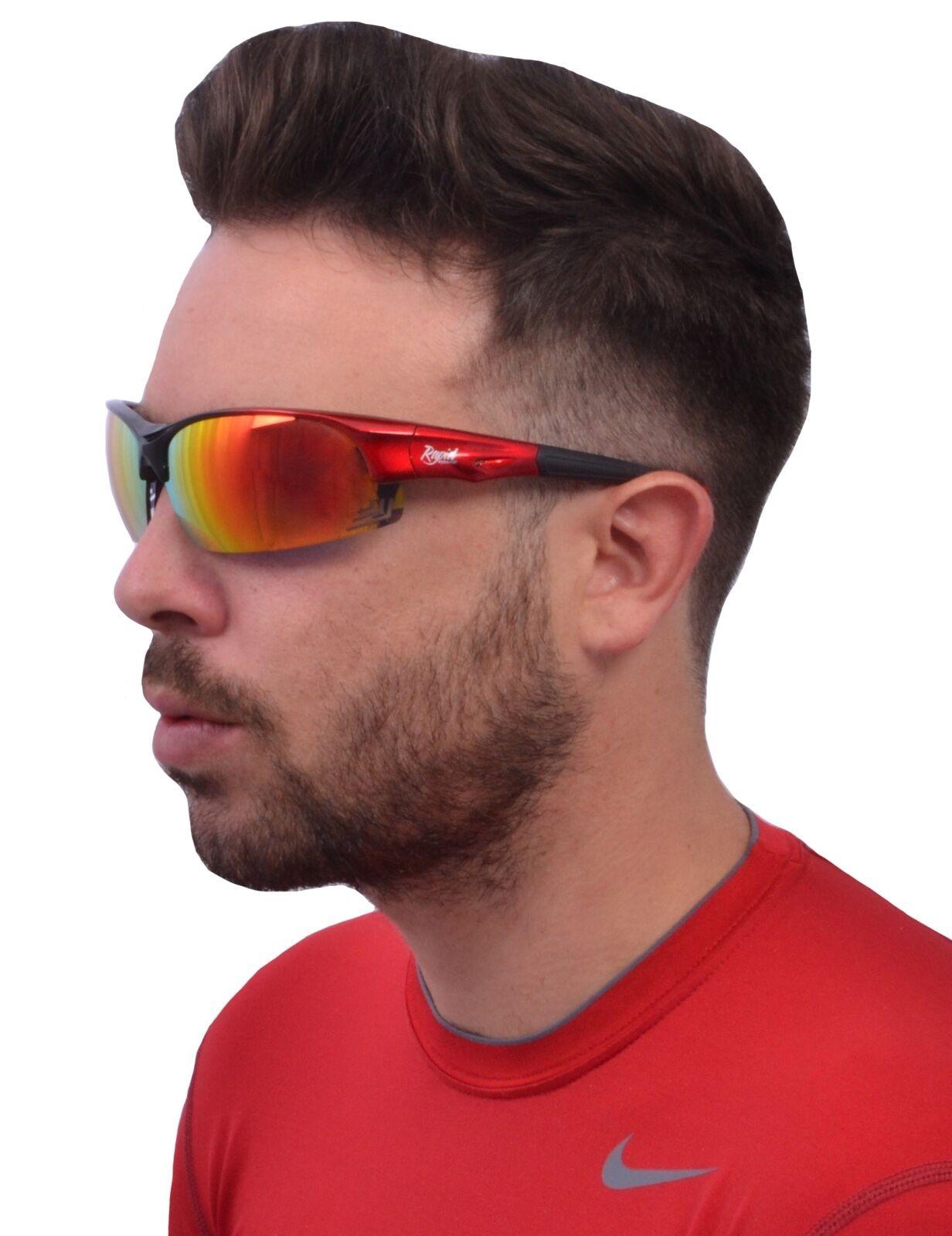 Damen Herren FAHRRADBRILLE Laufenbrille Radbrille. Rot. UV Getönt. Rapid Rapid Rapid Eyewear  | Vielfältiges neues Design  76e40f