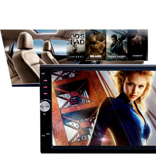 """2 Din 7/"""" Touch Screen FM Bluetooth Radio Audio Stereo Car Video Player/&HD Camera"""