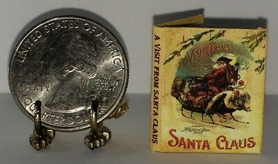 NICHOLAS DOLLHOUSE SCALE 1:12 SCALE MINIATURE BOOK A VISIT FROM ST