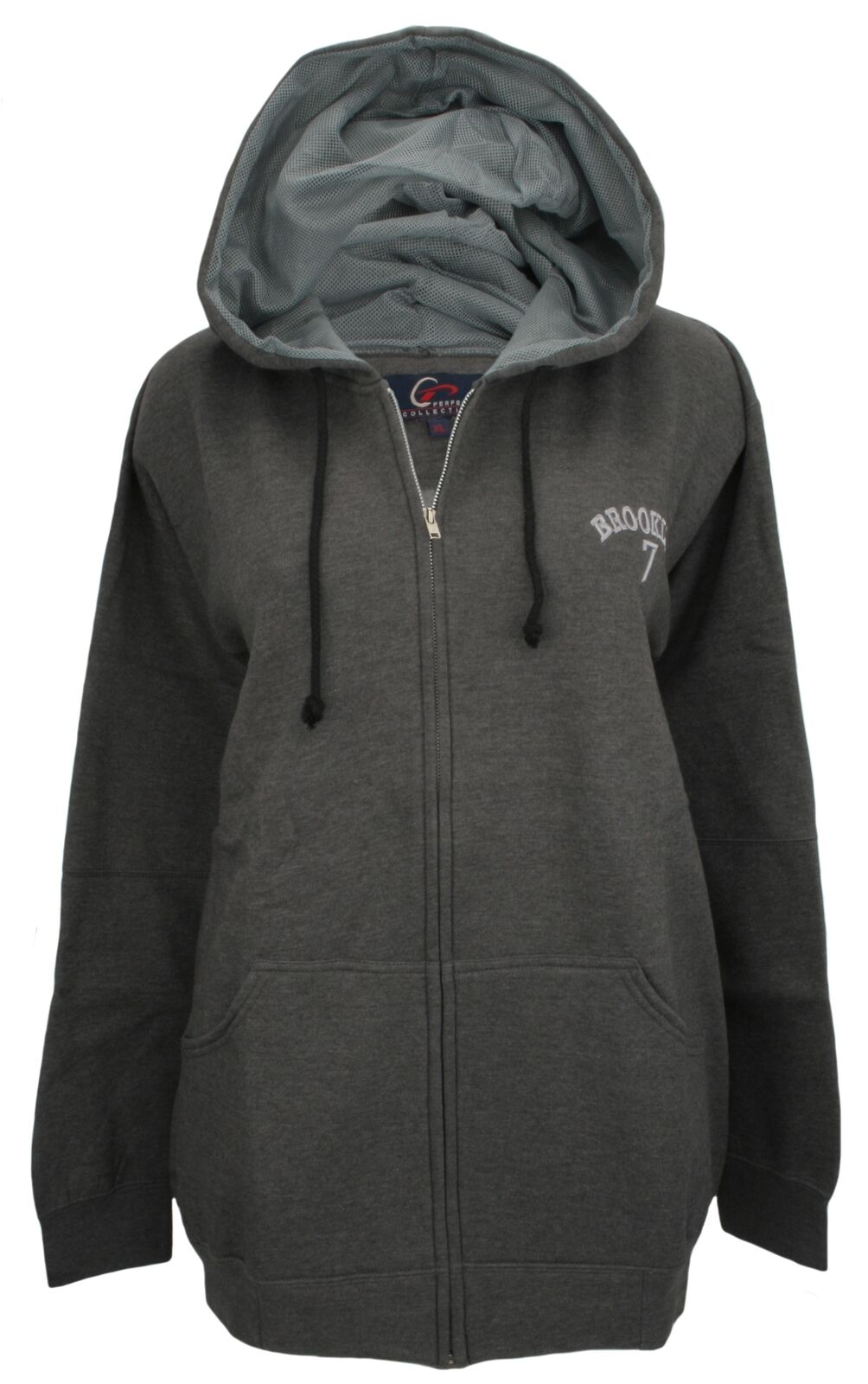Perfect Collection EmbroideROT Brooklyn Hoodie Charcoal Grau