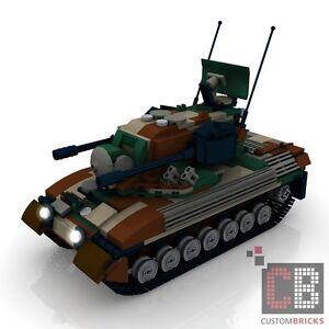 CUSTOM PDF Bauanleitung Bundeswehr Gepard 1A2 camo Flak Panzer für LEGO® Steine