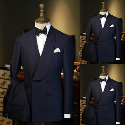 XQS Mens Business Jacquard 3 Piece Suit Tuxedo Blazer Jacket Tux Vest /& Trousers