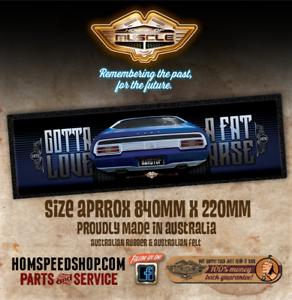 """Falcon GT hardtop Bar Mat """"GOTTA LOVE A FAT ARSE"""" Ford Bar Runner"""