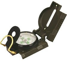 HEAVY DUTY MILITARY COMPASS Vintage army soldier map reading solid metal olive
