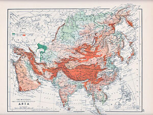 Map Of Asia Mountains.Details About 1894 Victorian Map Asia Mountains Table Lands Plains Valleys