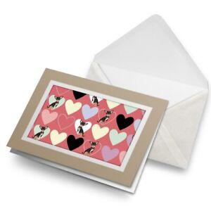 Greetings-Card-Biege-Love-Hearts-Chihuahua-Animals-Pets-8741