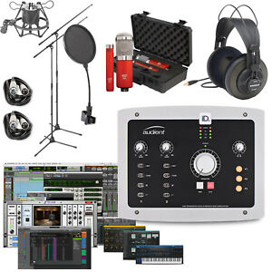 audient id22 home recording bundle studio package w pro tools first ebay. Black Bedroom Furniture Sets. Home Design Ideas