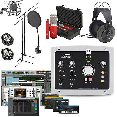 audient id22 home recording bundle studio package w pro tools first 888680890674 ebay. Black Bedroom Furniture Sets. Home Design Ideas