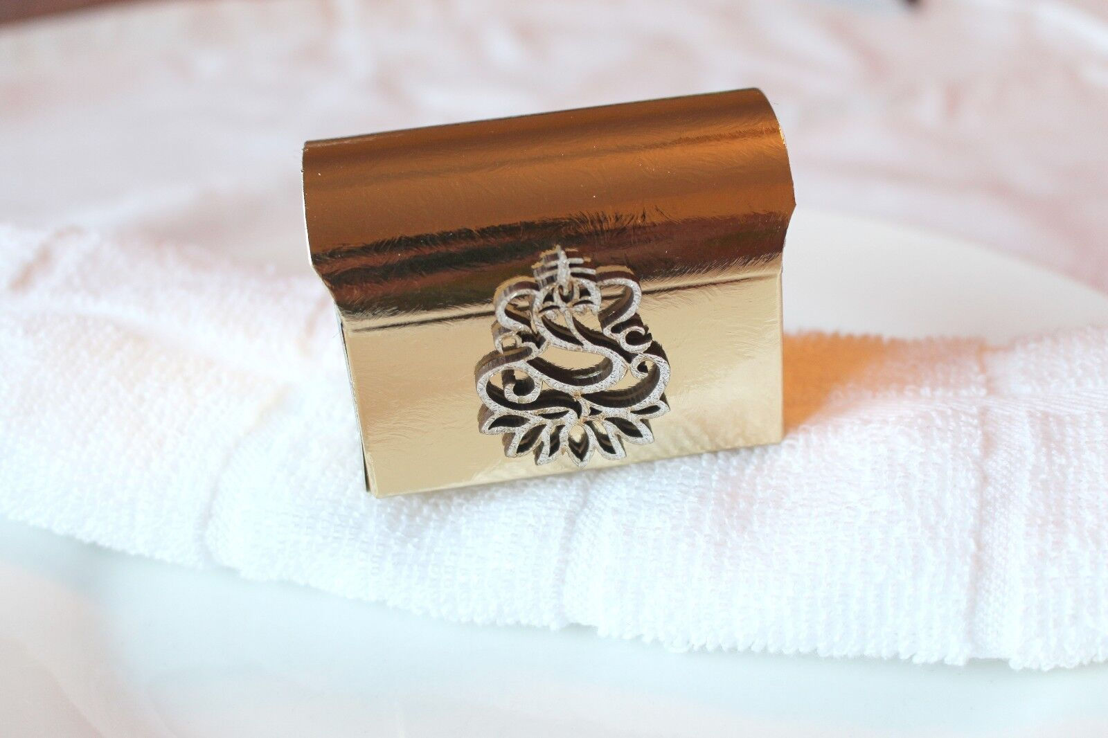 Gold Chest Indian Wedding Favours   Gift Box - Sanji Reception Ganesh Asian