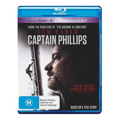 Captain Phillips Blu-ray Brand New Region B Aust. Tom Hanks - Mastered in 4K