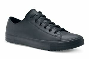 Shoes-for-Crews-Delray-Women-039-s-Black-Leather-Slip-Resistant-Lace-Up-Shoes