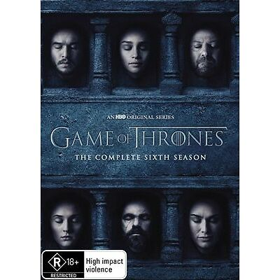 Game Of Thrones : Season 6 (DVD, 5-Disc Set) Brand New Sealed Region 4